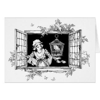 Vintage - Good Morning, Birdie (Blank Inside), Card