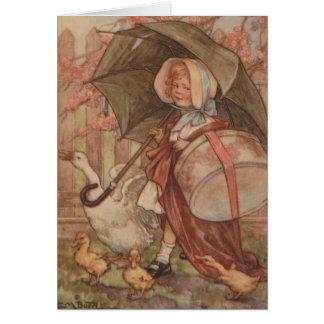 Vintage - Goose Girl, Card