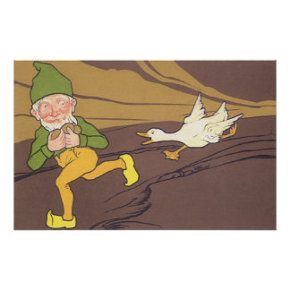 Vintage Goose that Laid the Golden Egg Aesop Fable Posters