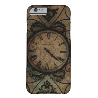 Vintage Gothic Antique Wall Clock Steampunk Barely There iPhone 6 Case