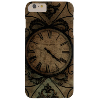 Vintage Gothic Antique Wall Clock Steampunk Barely There iPhone 6 Plus Case