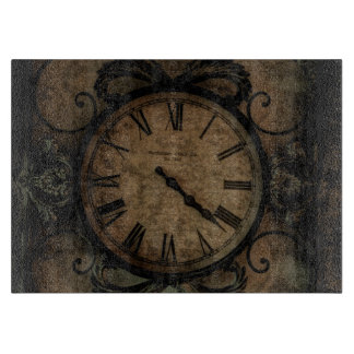 Vintage Gothic Antique Wall Clock Steampunk Boards