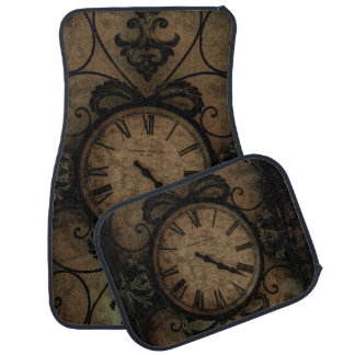 Vintage Gothic Antique Wall Clock Steampunk Car Mat