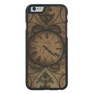 Vintage Gothic Antique Wall Clock Steampunk Carved® Maple iPhone 6 Slim Case