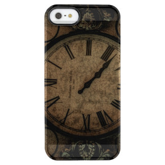 Vintage Gothic Antique Wall Clock Steampunk Clear iPhone SE/5/5s Case