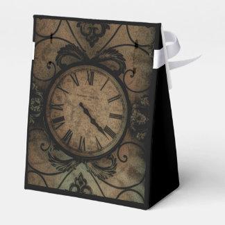 Vintage Gothic Antique Wall Clock Steampunk Favor Box