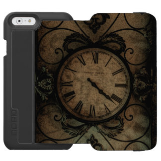 Vintage Gothic Antique Wall Clock Steampunk Incipio Watson™ iPhone 6 Wallet Case
