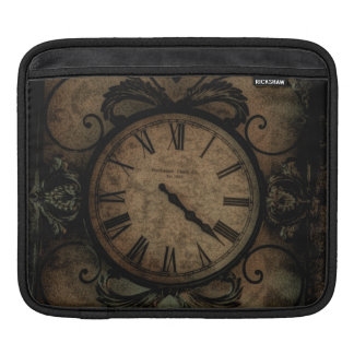 Vintage Gothic Antique Wall Clock Steampunk iPad Sleeve