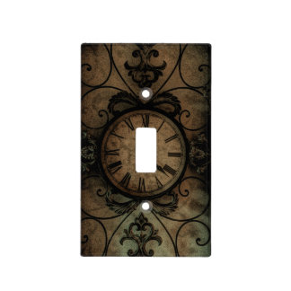 Vintage Gothic Antique Wall Clock Steampunk Light Switch Cover