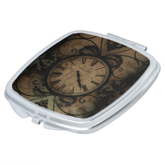 Vintage Gothic Antique Wall Clock Steampunk Makeup Mirror