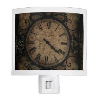 Vintage Gothic Antique Wall Clock Steampunk Nite Lites