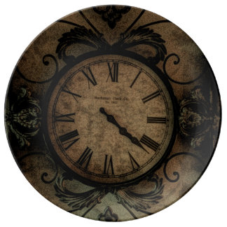 Vintage Gothic Antique Wall Clock Steampunk Plate