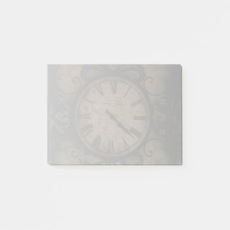Vintage Gothic Antique Wall Clock Steampunk Post-it Notes