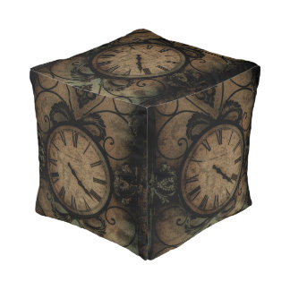 Vintage Gothic Antique Wall Clock Steampunk Pouf