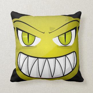 Vintage Gothic Halloween Alien Throw Pillow