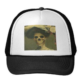 Vintage Gothic Skeleton Lady Trucker Hat
