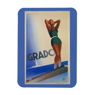 Vintage Grado Italian travel poster pinup Magnet