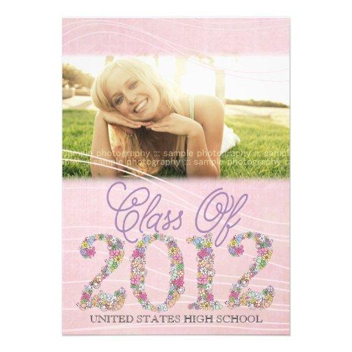 Vintage Graduate Class of 2012 Soft Pink Invite