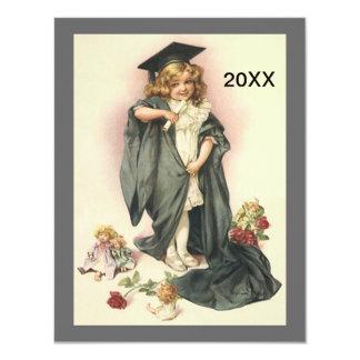 Vintage Graduation 2012 Invitation Dolls Roses