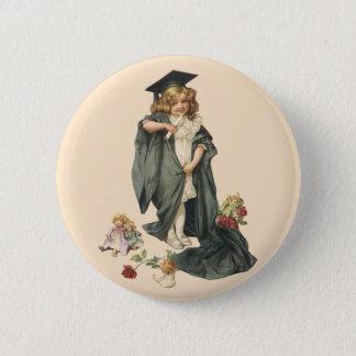 Vintage Graduation, Congratulations Graduates! 2 Inch Round Button