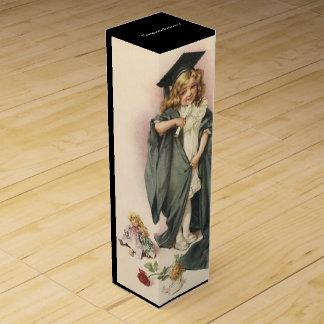 Vintage Graduation Grad Gift Wine Box w/ Congrats!