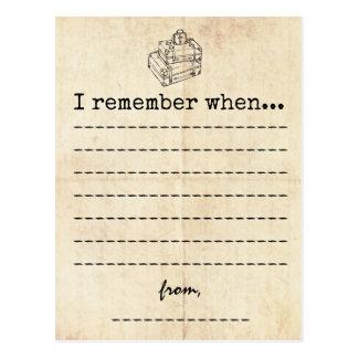 Vintage Graduation Memory Card Postcard