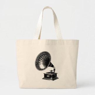 Vintage Gramophone Tote Bags
