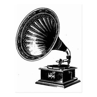 Vintage Gramophone Postcard