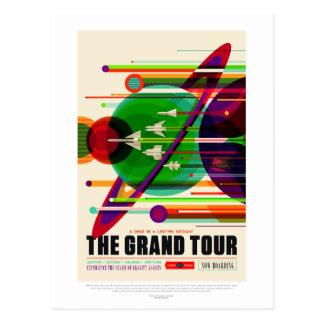 Vintage Grand Tour Solar System Travel Postcard