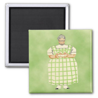 Vintage Grandmother Cook Kitchen Magnet