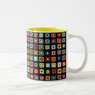 Vintage Granny Squares 11 oz Two-Tone Mug