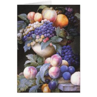 Vintage Grapes in a Vase Card