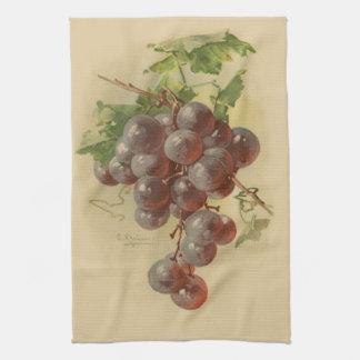 Vintage grapes kitchen towel