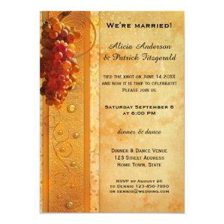 Vintage Grapes Post Wedding Party Invitation