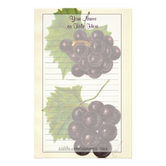 Vintage Grapes Stationery