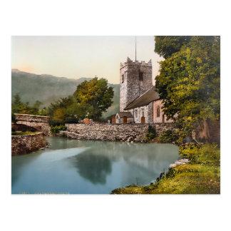Vintage Grasmere Cumbria England Postcard