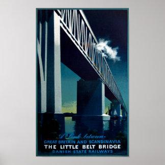 Vintage Great Britain Scandinavia Bridge Travel Poster