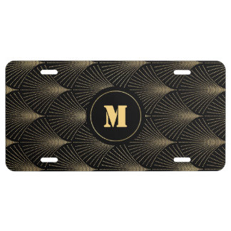 Vintage Great Gatsby Art Deco Monogram License Plate