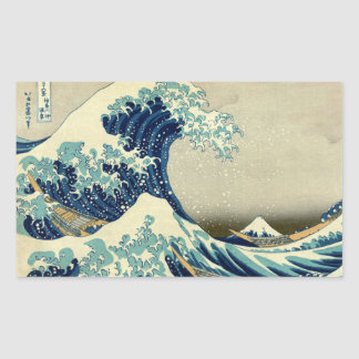 Vintage Great Wave Of Kanagawa Ukiyo-e Painting Sticker