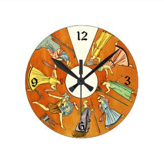 Vintage Greco-Roman Women Fashion Clock