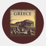 Vintage Greece Round Sticker