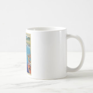 Vintage Greece Travel - Island of Corfu Coffee Mug