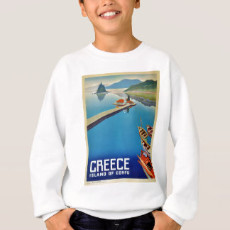Vintage Greece Travel - Island of Corfu Sweatshirt