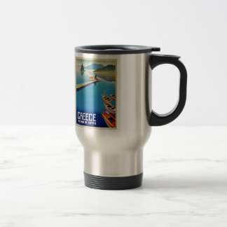 Vintage Greece Travel - Island of Corfu Travel Mug