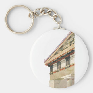 Vintage Greek Architecture, Temple of Athena Basic Round Button Keychain