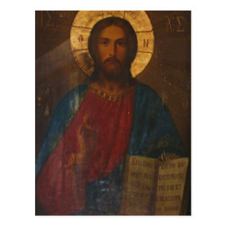 VINTAGE GREEK ORTHODOX ICON POSTCARD