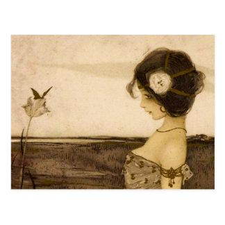 Vintage Greek Virgin Postcard