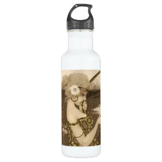 Vintage Greek Virgin With Harp 710 Ml Water Bottle