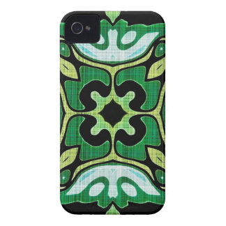 vintage green and white fabric Blackberry Case