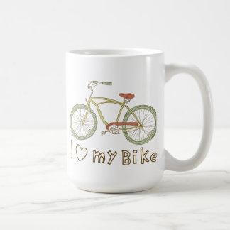 Vintage Green Bicycle I Love My Bike Mug